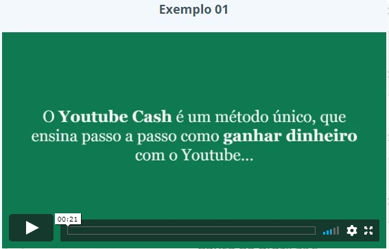 Youtube Cash depoimento