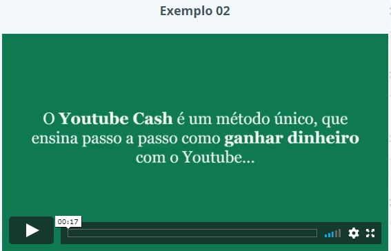 Youtube Cash depoimentos